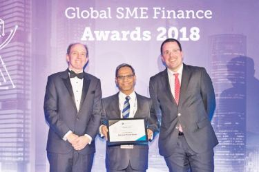 Matthew Gamser, CEO, SME Finance Forum, Bandara Jayatilake, Senior Executive Vice President SME Banking - Nations Trust Bank PLC and Raul Blanco Diaz, Spain's Secretary of Industry and SMEs in Spain