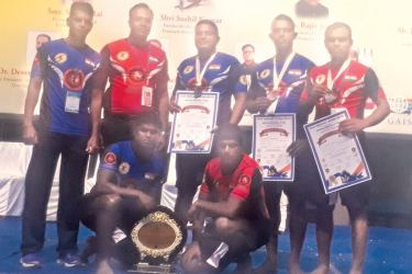 Sri Lanka Grappling team with officials