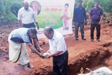 Cornerstones being laid. Picture by A.M.A. Fareed, Trincomalee District Special Corr.
