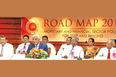 Governor, Dr. Coomaraswamy, Senior Deputy Governor, Dr. P. Nandalal Weerasinghe and other Central Bank officials at the event. Picture by Sulochana Gamage