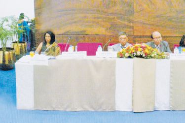 Panelists at the annual general meeting.