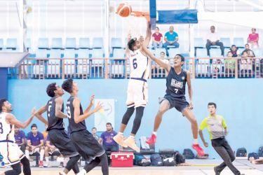 An incident in a preliminary round match of the Senior National Basketball tournament .