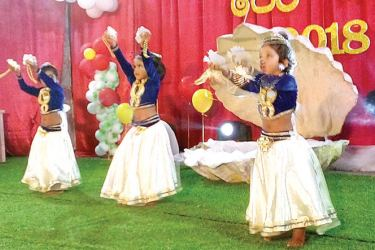 A performance by students.
