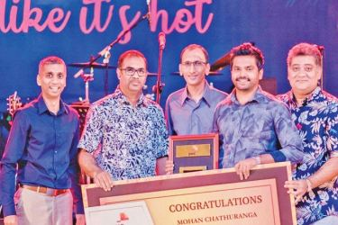 Mohan Chathuranga honoured as the PwC Employee of the Year by the Executive Directors of PwC.