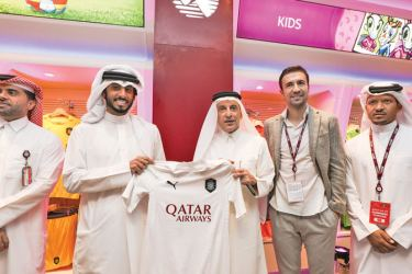 At the opening of the Qatar store.