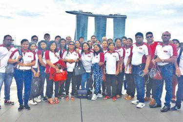 Some of the 'High Flyers Club' members in Singapore, for their Star Cruise.