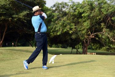 The Commander of the Air Force Air Marshal Kapila Jayampathy in action.
