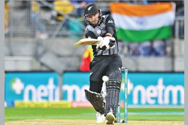 New Zealand's Tim Seifert bats during the first Twenty20 cricket match between New Zealand and India in Wellington on Wednesday. AFP