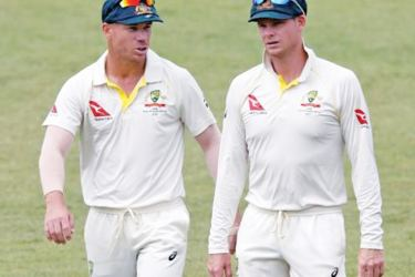 The ban on former Australian captain Steve Smith (right) and his former vice-captain David Warner will be lifted on March 29.