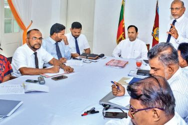 Eastern Province Governor Dr. M.L.A M.Hisbullah discusses the issues of the provincial education sector. Picture by A.B. Abdul Gafoor