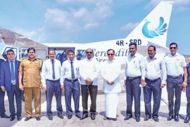 Sri Lanka Tourist and Industries Board Chairman A.M. Jawfer,Eastern Province Governor Dr. M.L.A.M. Hizbullah, State Ministers M.S.M. Ameer Ali and Alizakir Mowlana, Batticaloa Mayor T.Saravanapavan, Batticaloa Government Agent M.Uthayakumar, Ampara Government Agent D.M.L. Bandaranayeke and Eastern Province Senior DIG Kapila Jayasekera after the inauguration ceremony. Picture by Sivam Packiyanathan, Batticaloa Special Corr..