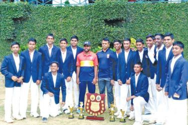 "Trinity college ""A"" team is seen here after they beat St. Anthony's College ""A"" team by six wickets in the mini battle"