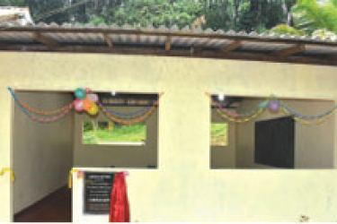 The three classroom buildings donated by Ceylinco Life.