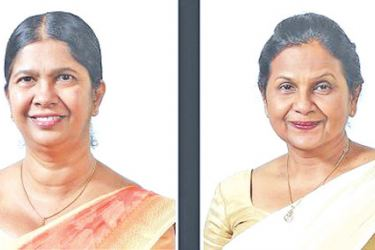 Deputy General Manager (Support Services) Wasantha Hettihewa. and Chief Legal Officer Gaya Jayasinghe.