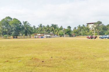 The Sellamuttu playground land selected for the aquatic complex.
