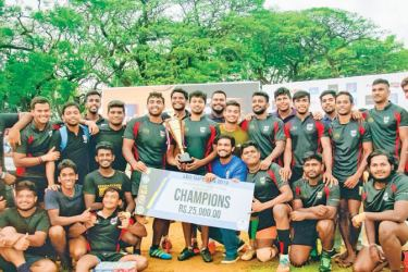 SLIIT celebrates winning the sevens crown.