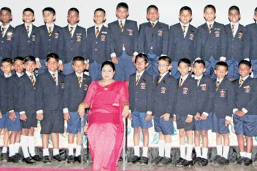 The junior prefects of Asoka Vidyalaya
