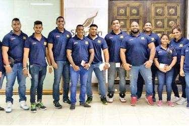 Lankan team for the Gold Coast Oceania Powerlifting championships