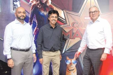 EAP Films and Theaters CEO Jeewaka Pallegama, Finance Director Thomas Mathew and Ben Holdings Director Operations Paul Kelly