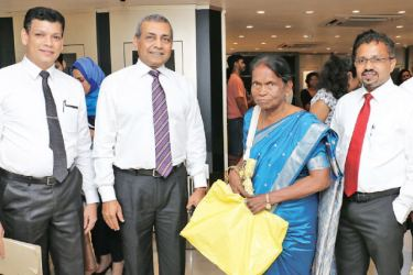 Group Chairman of Ben Holdings Alex Lovell and CEO of Swarnamahal Dinesh Fernando with long-standing customers of Swarnamahal at the launch.