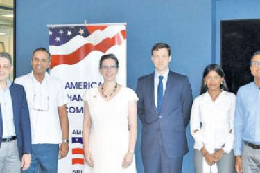Thomas L. Vajda, Acting Principal, Deputy Assistant Secretary, Bureau of South and Central Asian Affairs, U.S. Department of State and U.S. Ambassador to Sri Lanka and Maldives, Alaina B. Teplitz are pictured here along with other key officials from the U.S. Embassy and AMCHAM Sri Lanka.