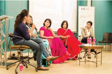 Panelists at the Challenges faced by Women In Engineering forum