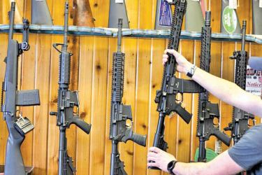 Semi-automatic AR-15's are for sale.