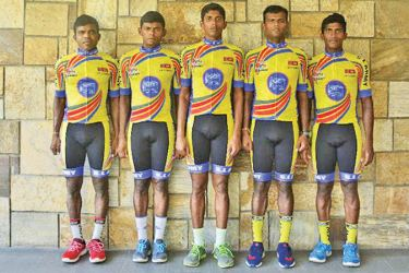 Lankan cycling team that will take part in Iskandar Johor 2019 cycling tour.
