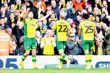 Marco Stiepermann doubled Norwich's lead in the 12th minute against Queen's Park Rangers.