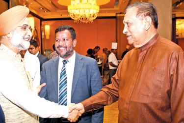 Industry and Commerce, Resettlement of Protracted Displaced Persons, Co-operative Development and Vocational Training and Skills Development Minister Rishad Bathiudeen, Indian High Commissioner to Sri Lanka Taranjit Singh Sandhu and Speaker Karu Jayasuriya