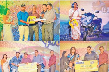 Some of Commercial Bank's 'Gedarata Thegi' final winners with the Bank's Managing Director  S. Renganathan, Chief Operating Officer Sanath Manatunge and members of the Bank's corporate and senior management.