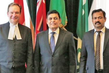 High Commissioner M. A. K. Girihagama with Speaker of the Legislative Assembly of Ontario, Ted Arnott and official.