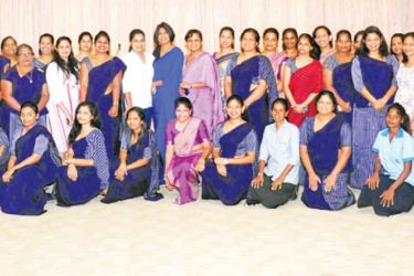 Staff members at BMICH's International Women's Day Programme