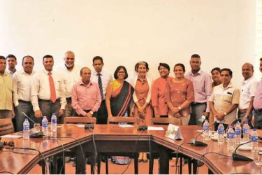 Representatives from the United Nations, the Central Province Chamber of Commerce, the Hambanthota District Chamber of Commerce, the Sabaragamuwa Chamber of Commerce and Industry, and the Employees Federation of Ceylon were among the organisations after the discussion.