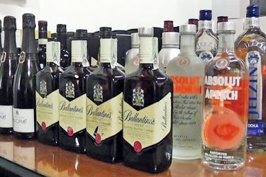 The stock of smuggled liquor that police seized.