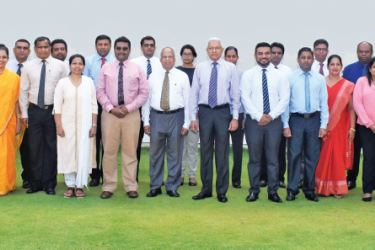Participants at the CIPM 5th Certified HR Auditor Programme with CIPM Sri Lanka President Dhammika Fernanado and officials