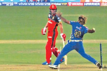 Mumbai Indians' Lasith Malinga clearly overstepped on the final delivery against Virat Kohli's Royal Challengers Bangalore.