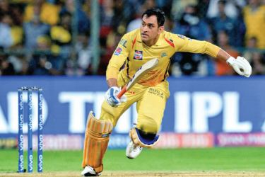 Chennai Super Kings captain and batsman M.S. Dhoni runs between the wickets during the 2019 Indian Premier League (IPL) Twenty20 cricket match againsts Royal Challengers Bangalore at the M. Chinnaswamy Stadium in Bangalore on Sunday. – AFP