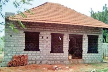 A house being built in the Karaveddy DS Division.