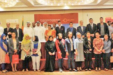 Some of the select senior management of corporate, tour operators and travel agents from Sri Lanka and Bahrain at the Tourism Promotion and Road Show along with Ambassador Dr. Mendis, Director of SLTPB, Madubhani Perera and Country Manager of SriLankan Airlines in Bahrain, Samantha Nagahawatta, among others at the event.