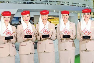 Some of the Emirates staff members