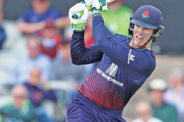 Keaton Jennings struck nine fours in his 84 off 88 balls for Lancashire.