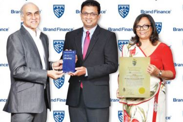 Premier connectivity provider Dialog Axiata PLC,  was evaluated as the most valuable brand in Sri Lanka in the 2019  edition of 'Sri Lanka's Most Valuable Brands' by Brand Finance Lanka.  Supun Weerasinghe, Group Chief Executive of Dialog  Axiata PLC and Amali Nanayakkara, Group Chief Marketing Officer, Dialog Axiata PLC, receiving the award from Ruchi Gunewardene, Managing Director of Brand Finance Lanka
