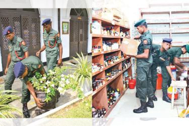 The Security Forces and Police carried out search operations in all schools yesterday, before they open today for the first time after the Easter Sunday terrorist attacks.