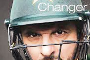 Cover of Shahid Afridi's book 'Game Changer'.