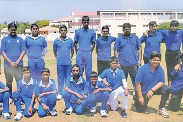 The visiting H.G. Cricket Academy of Padukka and Jain International Residential School cricket teams posed for a photograph before the commencement of  the two matches at Jakasandra Grounds, Banglaore.  Picture by Dilwin Mendis