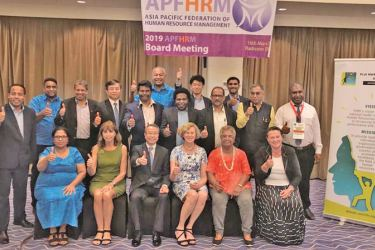 Participants at the APFHRM Board Meeting held in the Republic of Fiji