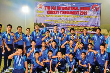 The champion Future Stars under-16 team and under-14 teams with coaches and officials