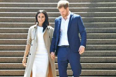 Meghan and Harry announced they were expecting their first baby in October.