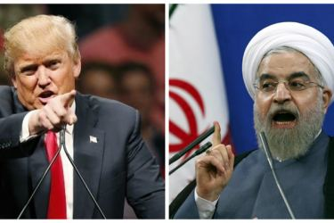 U.S. President Donald Trump and his Iranian counterpart Hassan Rouhani.